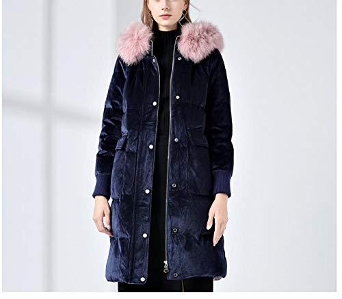 XUEREN Damen Warm Winterjacke Parka Warme Mantel Frauen Lange Dicke Parka Slim Jacke Einfarbig Warm Jumper Top Outwear 8