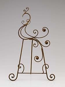 Chevalet de table - fer/métal - marron - 43 cm