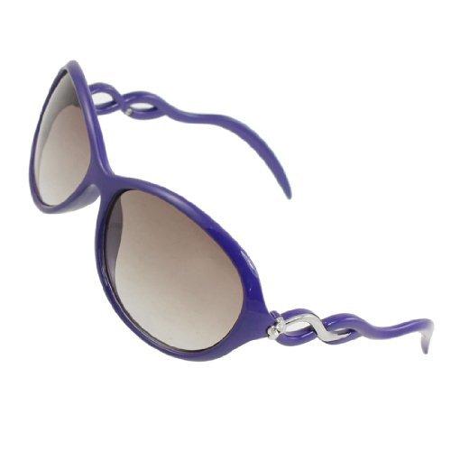 Dark Blue Rim (Vrouw Ladies Dark Slate Blue Plastic Wave Crest Volledige Rim oversized zonnebril)