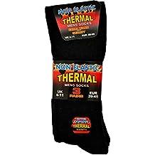 3 paia di calze termiche da uomo, nero