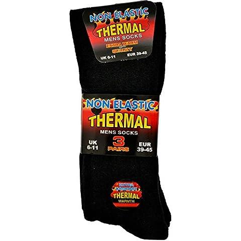 3pares de calcetines para hombre térmica, negro