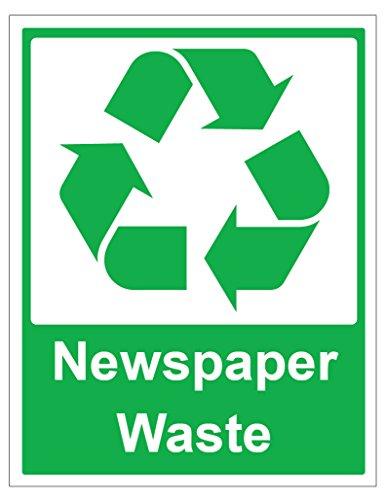 Business-zeitungen (2x Zeitung Abfall beachten, selbstklebende Aufkleber Sicherheit Schilder Business)