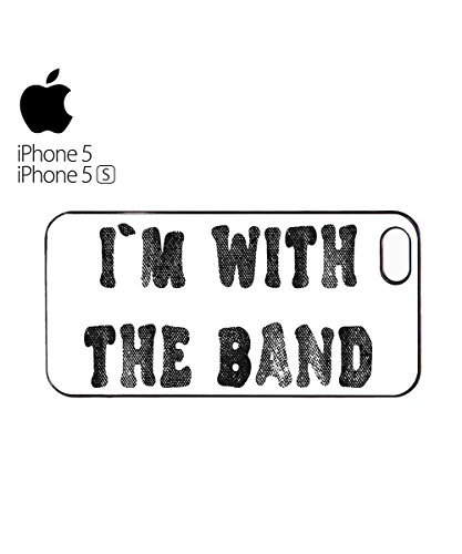 I Am With The Band Music Mobile Cell Phone Case Cover iPhone 6 Plus Black Blanc