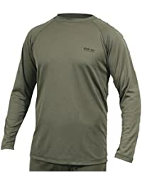 Web-Tex Xt Base Layer Top Green Thermal Shirt Long Sleeve