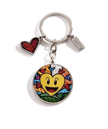 Romero Britto Schlüsselring Herz Emoji Smiley - Pop Art Kunst aus Miami #334389 -