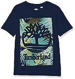 Timberland TEE-SHIRT MANCHES COURTES T-shirt Garçon Bleu (Indigo Blue Beige 85t) 5 ans (Taille fabricant:05A)