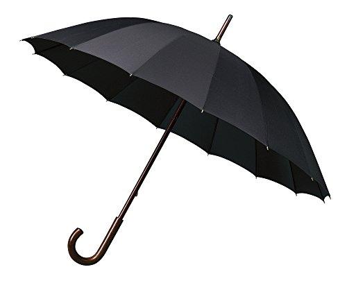 Falcone GR-440 _ Parapluie Droit Canne , Noir classique