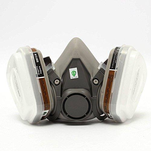 Outerdo 3M 6200 - Máscara de protección respiratoria para pintura de aerosol...