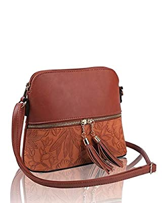 LeahWard Women's Quality Faux Leather Cross Body Bags Tassel Shoulder Bag Handbags For Holiday Party 1061
