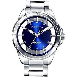 c15565853521 Viceroy Reloj Analógico para Hombre de Cuarzo con Correa en Acero  Inoxidable 401051-37