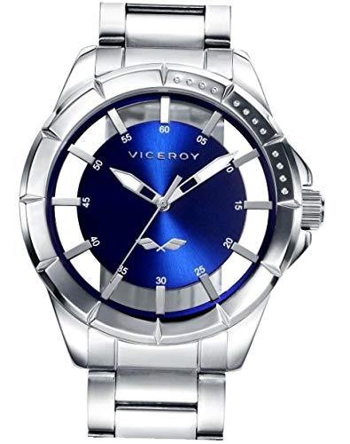 f75b68f2f Viceroy Reloj Analógico para Hombre de Cuarzo con Correa en Acero  Inoxidable 401051-37 ...