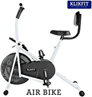 Klikfit KF02M Indoor Air Bike Exercise Cycle with Dual Moving Arms for Home Gym Cardio Full Body Weight Loss W