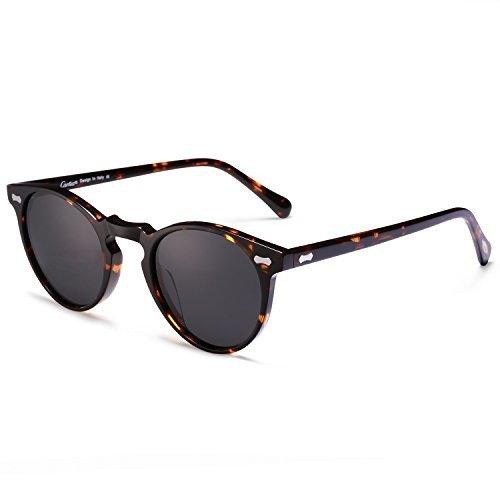 Carfia Retro Polarisierte Damen Sonnenbrille Herren Sonnenbrille Outdoor UV 400 Brille für Fahren Angeln Reisen
