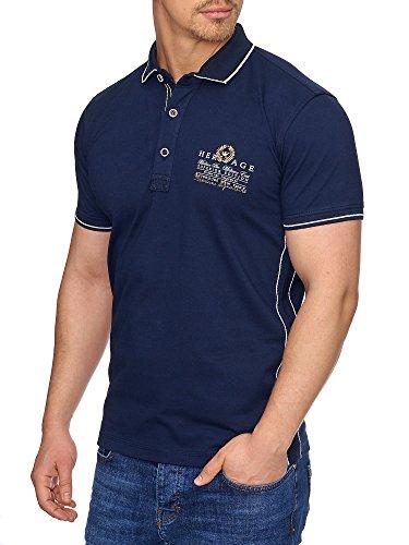TAZZIO Herren Polo-Shirt Polohemd Poloshirt T-1017