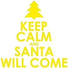 Pegatina para el coche vinilos Navideños vinilos Navidad pegatinas Navidad ( Yellow)