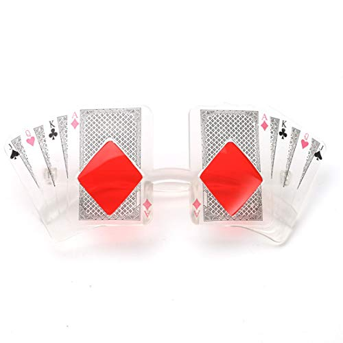 Yiph-Sunglass Sonnenbrillen Mode Perfect Party Favor Glasses Partyzubehör Poker Fanci-Frame Erwachsene Kinder Party Sonnenbrille (Farbe : Red)