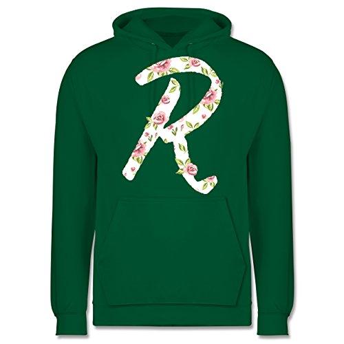 Anfangsbuchstaben - R rosen - Männer Premium Kapuzenpullover / Hoodie Grün