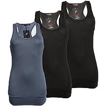 Damen Tank Top Trägershirt Ringer Rücken Racerback T-Shirt Größe 34/36/38 Farbe