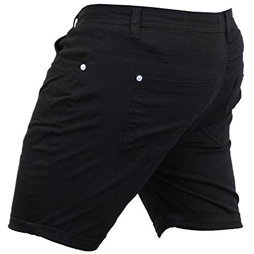 Herren Zerschlissene Jeans Skinny Shorts Brave Soul Gerüscht Hose Baumwolle Freizeit Sommer Neu Schwarz - EAST