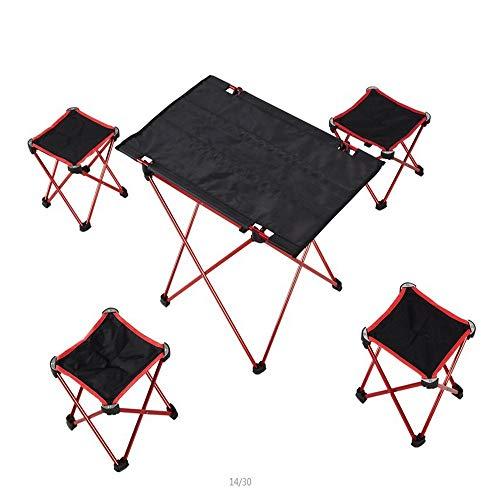 I will take action now Fünf Stücke draußen faltende Tische und Stühle