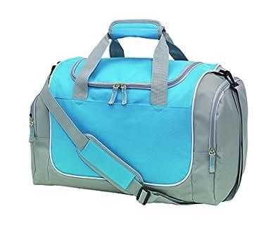 Sporttasche GYMZL mit Schuhfach Farbe Hellblau sehr gute Qualität ca. 48 x 30 x 27 cm