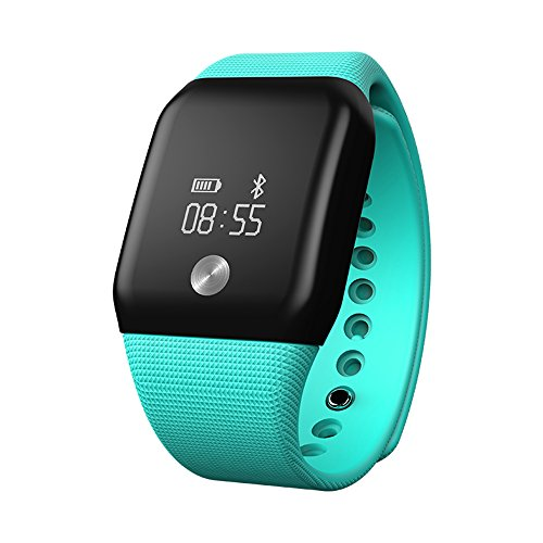 ranipobo Bluetooth Smart Watch LED Dynamic Heart Rate Exercise Exercise Pressure Blood Oxygen Measurement IP67 Water Resistant with Alarm Clock Calories of Sleep Running Pedometer