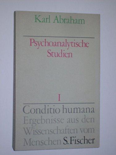 Psychoanalytische Studien I