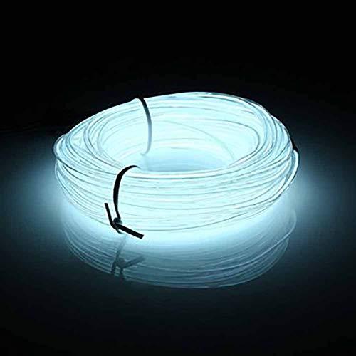 10M LED El Wire Flexible Light Soft Tube Draht Neon Glow Auto Seil Licht Weihnachten DIY Dekoration Ananas Weihnachtsbaum Rot - Weiß