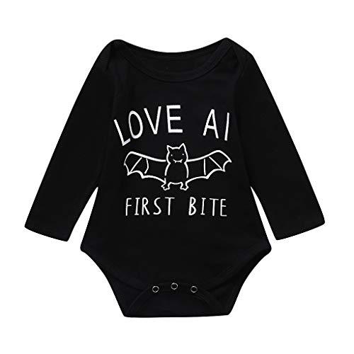 Splrit-MAN Baby-Nachtwäsche Babybekleidung Neugeborenes Baby Romper Jumpsuit Bekleidungssets Strampler Spielanzug Halloween Outfits Kostüm Langarm Overalls Säugling Romper