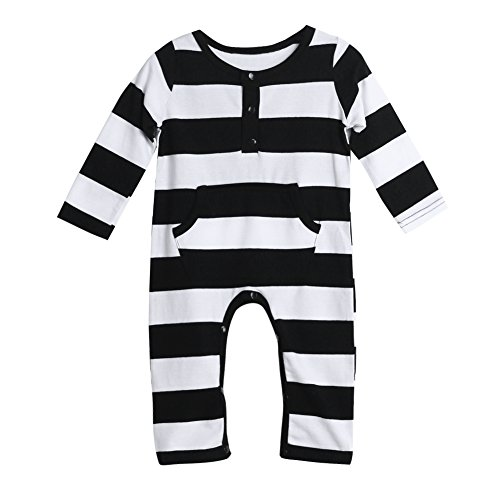 Baby Infant Toddler Kids Long Sleeve Striped Rompers Jumpsuit Bodysuit