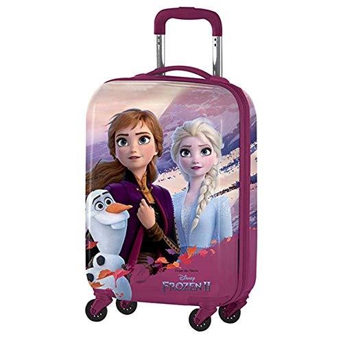 Trolley DA Viaggio Frozen Anna Elsa Olaf Disney CM. 55X32X20 in ABS 4 Ruote INDIPENDENTI - D99866