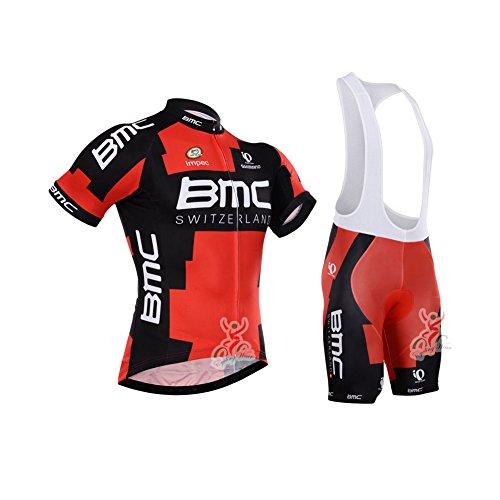 Strgao 2016 Herren Pro Rennen Team BMC MTB Radbekleidung Radtrikot Kurzarm und Tr?gerhose Anzug Bib shorts suit