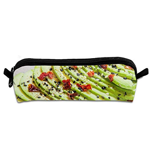 Sliced Avocado On Toast Bread Spices Food And Drink Pencil Case Pen Bag Pouch Stationary Case Makeup Cosmetic Bag -