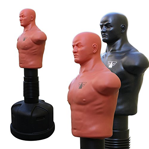 Box Dummy Körper Torso Höhenverstellbar 153 - 178cm MMA Trainer Standboxtrainer Puppe FOX-FIGHT natur