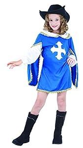 Reír Y Confeti - Ficmou033 - Disfraces para Niños - Disfraz Mosquetero Little Blue - Chica - Talla L