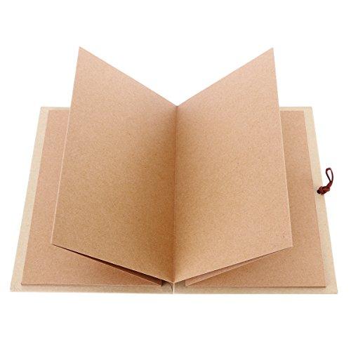 luoem Kraftpapier Papier Buchgebundenes Akkordeon Stil Basteln Foto ABLUM Buch 36Seite weiß Scrapbook für Erlangung des Diplom Geburtstag Jahrestag Geschenke von Valentinstag (hellbraun) (Akkordeon-foto-buch)