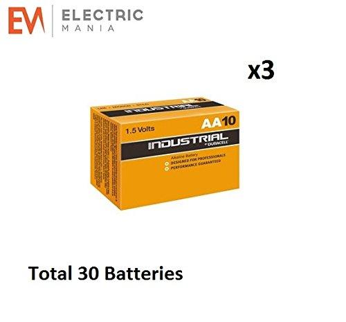Duracell 30x AA batteria alcalina industriale, colore: arancione