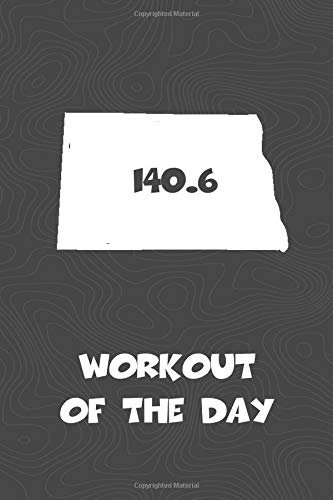 Workout of the Day: North Dakota Workout of the Day Log for tracking and monitoring your training and progress towards your fitness goals. A great ... bikers  will love this way to track goals! por KwG Creates