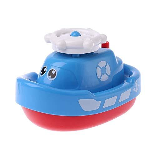 yongfei Kinder Badespielzeug Elektronische Spray Wasser Boot Schwimmende Badewanne Pool Bad Schwimmen Spielen Kind Baby Geschenke in Bad Spielzeug BL (Baby-dusche-geschenk-sack)