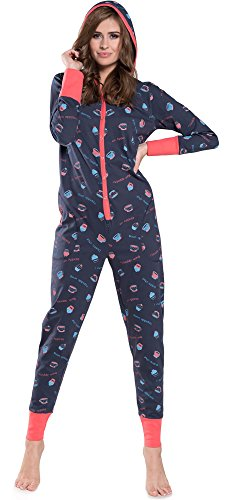 Italian Fashion IF Damen Jumpsuit IF180012 Navy-3