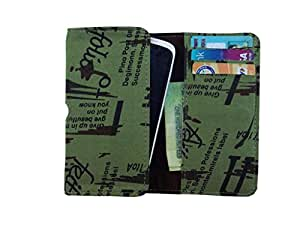 ATV Printed Pouch Case Flip Cover For Micromax A111 Canvas Doodle