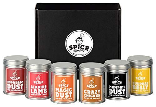 Das große BBQ Gewürzset, Geschenkset, Geschenk für Männer, Magic Dust & 5 weitere tolle Rubs/Grillgewürze