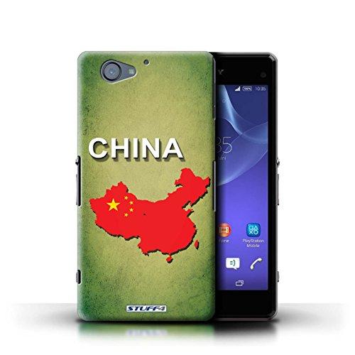 Kobalt® Imprimé Etui / Coque pour Sony Xperia A2 / Thaïlande/Thai conception / Série Drapeau Pays Chine/Chinois