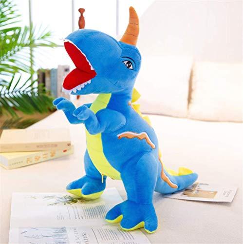 TTQIAOHUA Plüschtier Dinosaurier Erwachsene Kinder Geburtstagsgeschenk Zimmer Schlafzimmer Schlafsofa Schlafen Spielzeug Dekoration 80 cm Blau