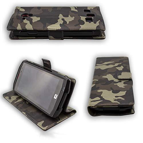 caseroxx Hülle/Tasche Bookstyle-Case Crosscall Trekker-X3 Handy-Tasche, Wallet-Case Klapptasche in Camouflage