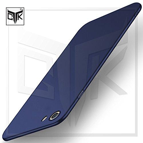 TheGiftKart Ultra Slim 360* Matte Velvet Feel Back Case Cover with Camera Protection Bump for Oppo Realme 1 (Metallic Blue)