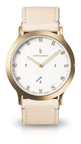 Lilienthal Berlin Armbanduhr L1 Klein Gold/weiß/Creme L01-202-B022B
