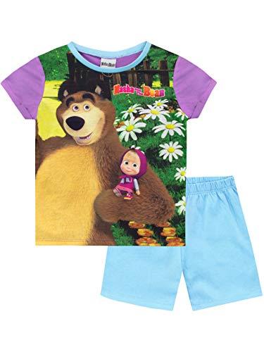Masha and the bear pigiama a maniche corte per ragazze masha e orso multicolore 4-5 anni