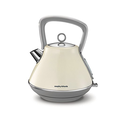 Morphy Richards Evoke Pyramid Kettle 100107 Traditional Kettle Cream Best Price and Cheapest