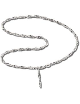 SilberDream Fußkette Singapur 925 Sterling Silber 25cm Fußkettchen SDF014